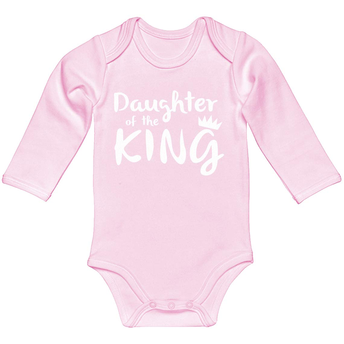 Baby Romper Daughter of The King 100/% Cotton Long Sleeve Infant Bodysuit