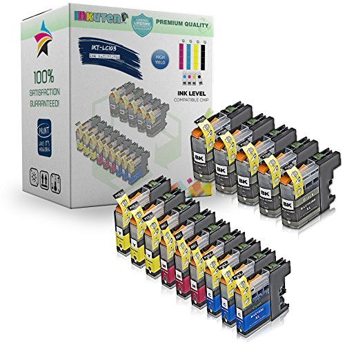 INKUTEN Compatible Brother LC103 LC-103 Set of 14 High Yield Ink Cartridges for Brother MFC-J870DW, MFC-J470DW, MFC-J475DW, MFC-J875DW, MFC-J650DW, MFC-J285DW, MFC-J6920DW, MFC-J450DW, MFC-J245, MFC-J6520DW, MFC-J6720DW Brother DCP-J152W. (No 14 Compatible Black Ink)
