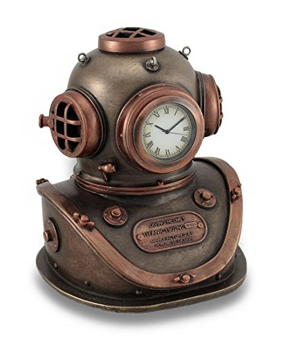 - Resin Desk Clocks Bronze And Copper Finish Mark V Dive Helmet Desk Clock 4 X 5 X 4.5 Inches Copper