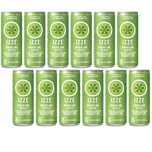 IZZE Fortified Sparkling Juice, Apple, 8.4-Ounce Cans (Pack of 12) by Izze Soda
