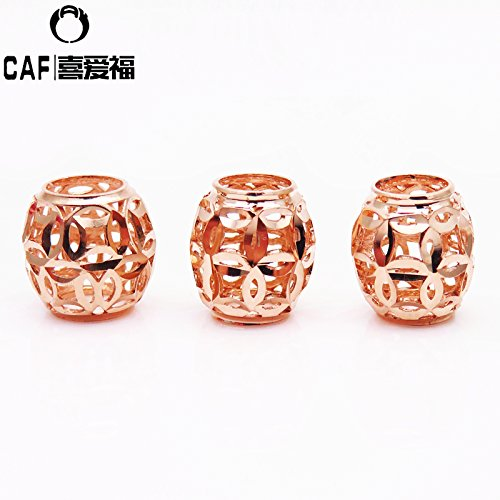 y genuine pure 585 Zijin transfer beads necklace pendant rose gold color gold 14k Passepartout Bracelet ()