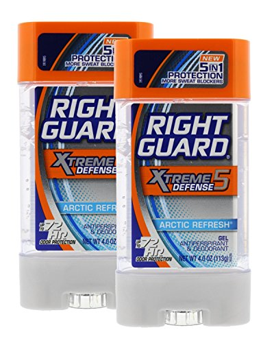 Right Guard Xtreme 4 Ounce Gel Defense 5 Arctic Refresh (118ml) (2 Pack)
