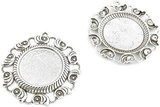 Argento antico tono gioielli ciondoli 598714conch impostazione cabochon base Blank Craft Art making crafting Beading antique silver