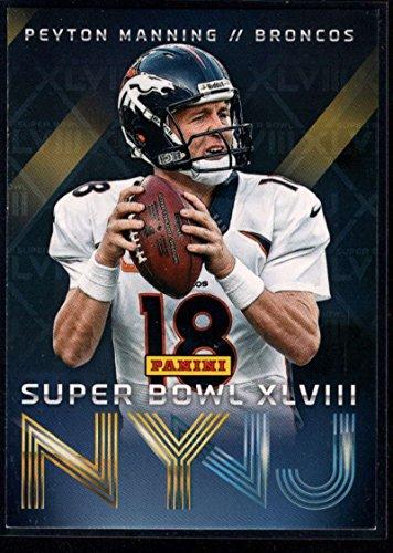 Football NFL 2014 Panini Super Bowl XLVIII Denver Broncos #1 Peyton Manning (Peyton Single)