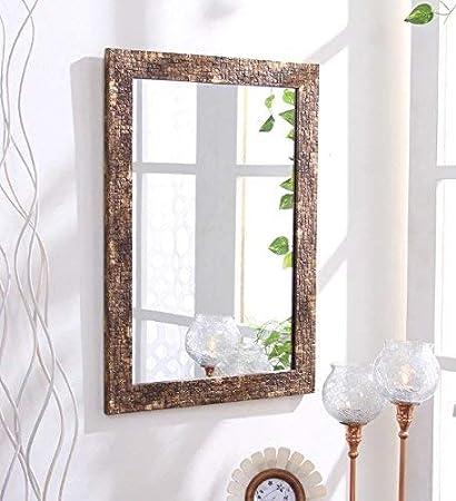 Buy Creative arts Frame Aurous Fiber Wood Wall Mirror || Size - 15 x ...
