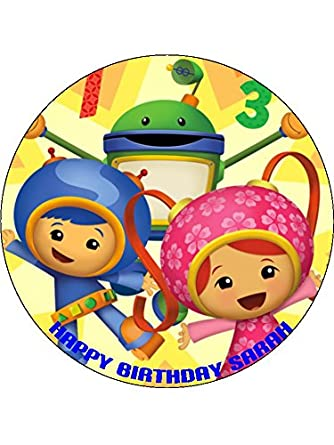 Team Umizoomi 75 Round Personalised Birthday Cake Topper Printed On Icing ICING Amazoncouk Grocery
