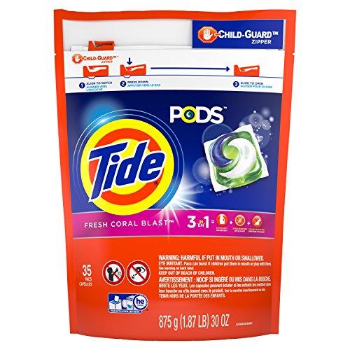 Tide Pods Detergent  Coral Blast  35 Count