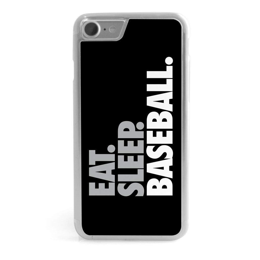 Baseball iPhone 7/8 Case | Eat Sleep Baseball | Black