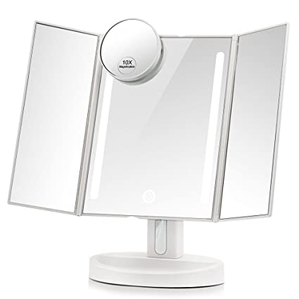 Amazon leju makeup mirrornatural daylight lighted vanity leju makeup mirrornatural daylight lighted vanity mirror with touch screen dimming detachable 10x aloadofball Choice Image