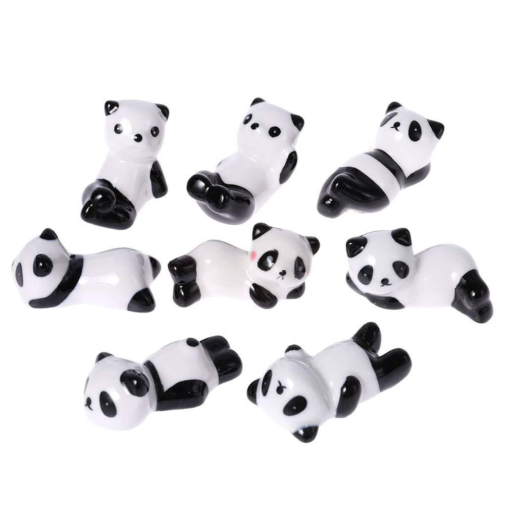 GROOMY Lovely Panda Shape Bacchette e forchette Holder Stand Decorazione della casa in Ceramica