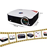 LightInTheBox 2600lms LCD LED Smart Projector Multimedia 1080P Full HD Home Theater with HDMI Input TV Tuner(PH5),Built-in Speaker TV, HDMI Input, USB, VGA Port, 3-in-1 AV In (White)