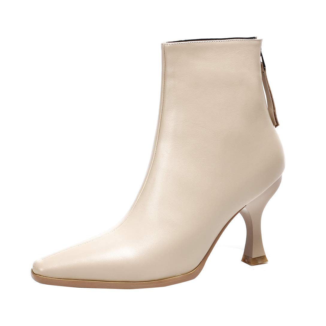 Nude MAYPIE Womens Toalpha Leather Zipper Ankle Boots