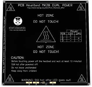 Cama caliente Heat bed heatbed MK2B 12V-24V Negra Impresora 3D ...