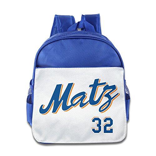 Price comparison product image LINNA Superb New York 32 Baseball Player Kids Children School Bagpack For Boys And Girls RoyalBlue