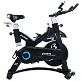 Cheap pooboo Indoor Cycling Bicycle, Belt Drive Indoor Exercise Bike,Stationary Exercise LED Display Trainer Bike Bottle Holder
