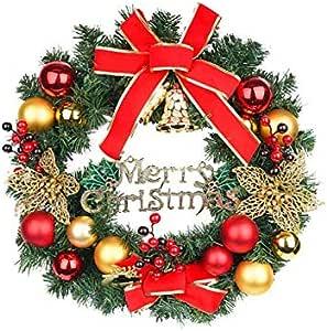 Red Christmas door hanging wreath window hanging door decorations hanging decoration 50cm