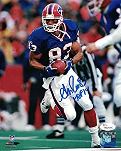 Andre Reed Autographed Buffalo Bills 8x10 Photo Blue HOF JSA