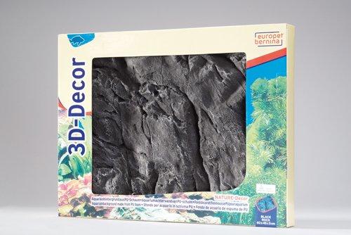 Europet - Décor Paroi De Fond - Black Rock - Ml - 60 Cm X 45 Cm 237-228425 17369