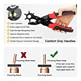 Revolving Punch Plier Kit, XOOL Leather Hole