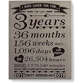 Third Wedding Anniversary.Amazon Com Kate Posh Third Wedding Anniversary Engraved Leather