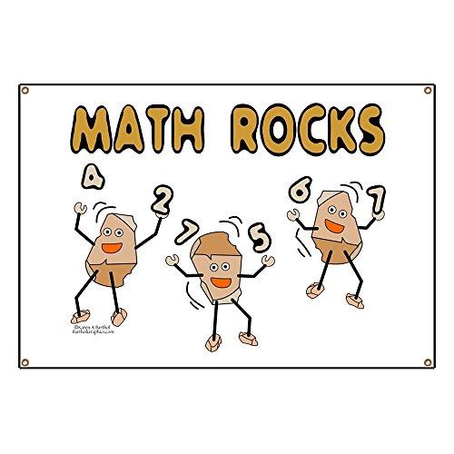 CafePress Math Rocks Vinyl Banner, 44