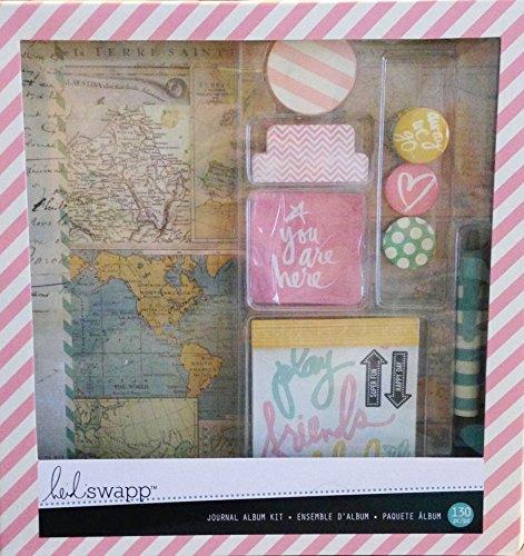 Heidi Swapp Journal Album Kit, Travel ()