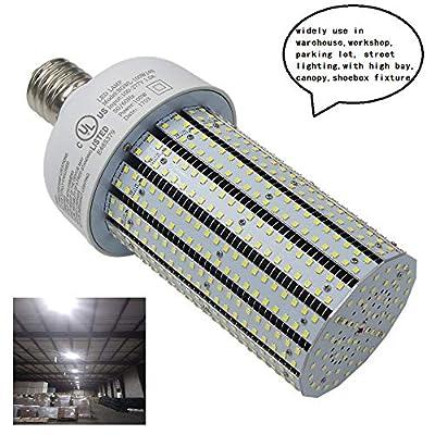 LED Corn Cob Light Replace 400W Metal Halide E39 Mogul Base 6000K Daylight 13442Lm Parking Lot Street Wall Pack Fixtures High Bay Fixture AC90-277V