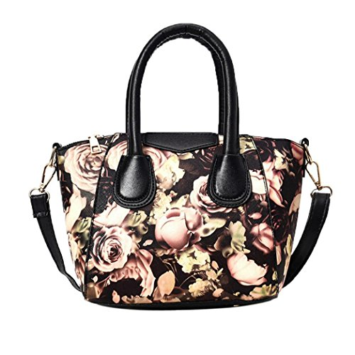 Bolso Satchel de las Mujeres, Mariposa Impresa Bolso del Bolsos Baguette de la Flor por Morwind (Rosa) Marrón