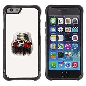 Be-Star único patrón Impacto Shock - Absorción y Anti-Arañazos Funda Carcasa Case Bumper Para Apple iPhone 6 Plus(5.5 inches)( Solider Helmet Rose Death Red War )
