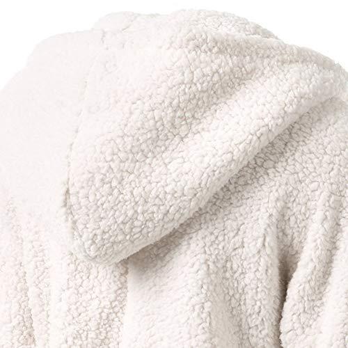Myyw Giacca 004 Accogliente Tinta Vestibilità Donna Cappotto Unita Cappuccio Con Soffice Slim Mantieni Caldo Cardigan Autunno Moda Più Felpa Camicia Velluto FFRZxr
