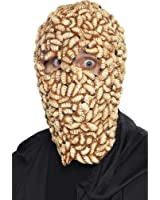 New Adults Halloween Fancy Dress Party Costume Scary Worms Maggot Face Mask