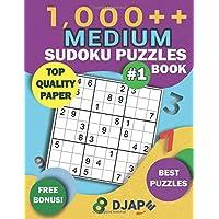 1,000++ MEDIUM Sudoku Puzzles Book: Top Quality Paper, Best Puzzles, Free Bonus! (Sodoku Puzzle Books for Adults)
