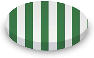 product image for SheetWorld Fitted 100% Cotton Percale Oval Crib Sheet, Fits Stokke Sleepi 26 x 47, Forest Green Stripe, Made in USA