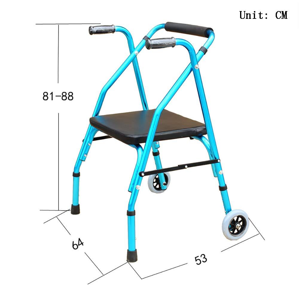 QETU Andador Plegable - Andador de aleación de Aluminio de 2 ...
