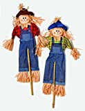 Worth Imports 48'' Scarecrow on Stick, Set of 2