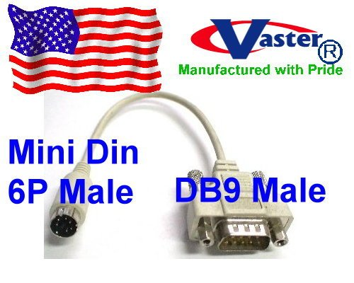 Serial Mouse to PS/2 Computer Adapter Cable 6 Pin Mini Din Splitter