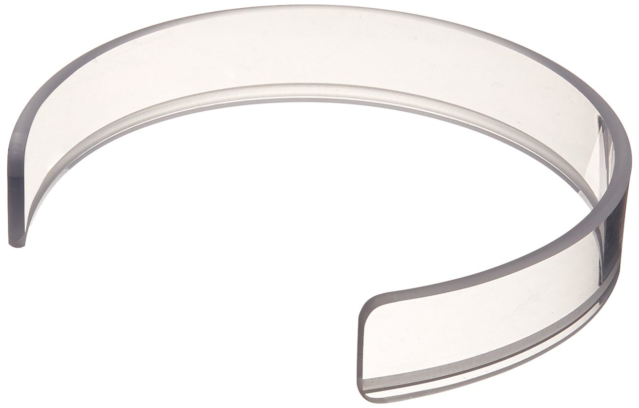 Sammons Preston Invisible Food Guard, Reusable Snap-On Plastic Ring Fits 8.5''-10'' Plate, 1.25'' High Crystal Clear Plastic Plate Ring, Kitchen Aid with Sure Fit to Prevent Spills, Dishwasher Safe Guard