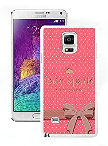 Popular Customize Samsung Galaxy Note 4 Phone Case Kate Spade New York Unique Cover Case For Samsung Galaxy Note 4 N910A N910T N910P N910V N910R4 192 White