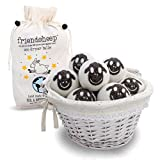 Wool Dryer Balls By Friendsheep : 100% Organic - Handmade - Fair Trade - Eco-friendly - Best All Natural Fabric Softener -