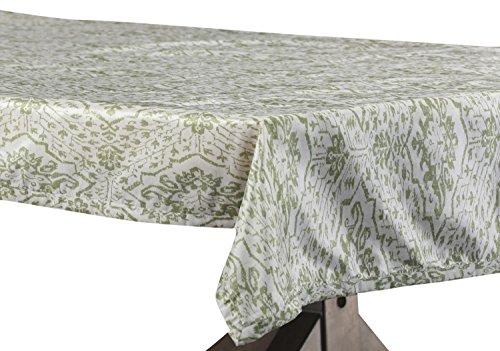 - PTPCH-170807-TC-120 Tabriz Designer Faux Silk Taffeta Table Cloth, Green, 54 x 120