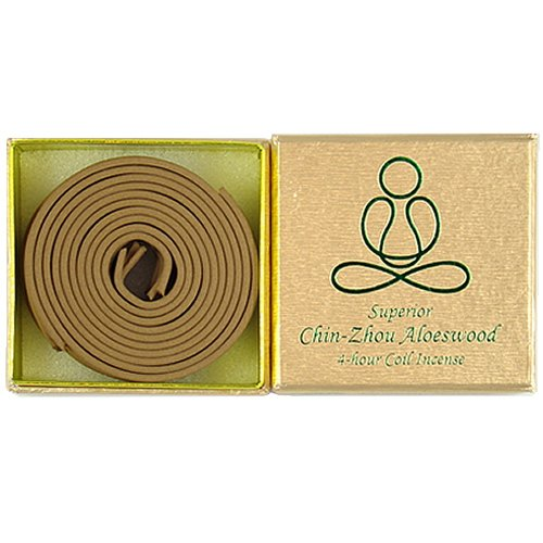 Bosen Incense 12 pieces 4-hour Superior Chin-Zhou Aloeswood coil - 100% Natural - F004T