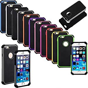 Zaki Shockproof Dirt Proof Hard Rubber Cover for iPhone 6 (Assorted Colors) , Gray