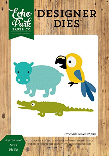 Echo Park Paper Company JS117042 Safari Animals Set #2 Die Set