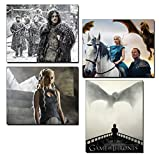 Game of Thrones Prints/Photos (4 Pack) Featuring Daenerys, Tyrion and John Snow