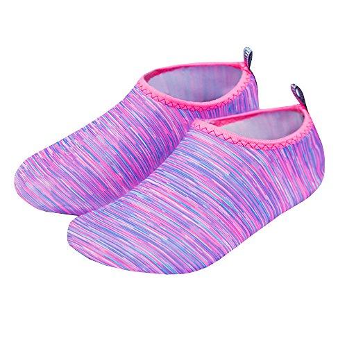 Swim Water Quick Yoga Sock Aqua Womens Foshow Socks Sport Shoes Wading Purple2 Socks Barefoot Dry Surf S0Xwqp