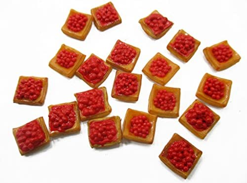 Lot 20 Loose Cherry Puff Dollhouse Miniatures Food Pastry Bakery Supply 14667