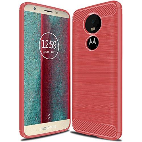 Moto E5 Play Case, Moto E5 Cruise Case,Suensan TPU Shock Absorption Technology Raised Bezels Protective Case Cover for Motorola Moto E5 Play 2018 (Red)