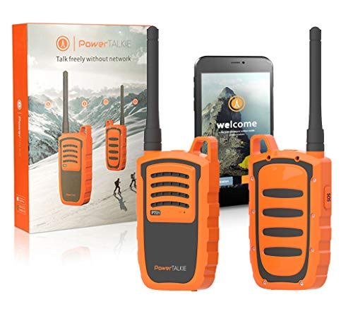 Power Talkie Off Grid Communication Device - with Talk and Messenger Communicator, Handheld GPS and Satellite Emergency Button - Pairs to Smart phone, Powerful 6000mAh battery,10-20 Global Miles -