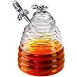 Artland 42010 Honey Bee Pot with Dipper(Gift Boxed), 15 oz, Clear