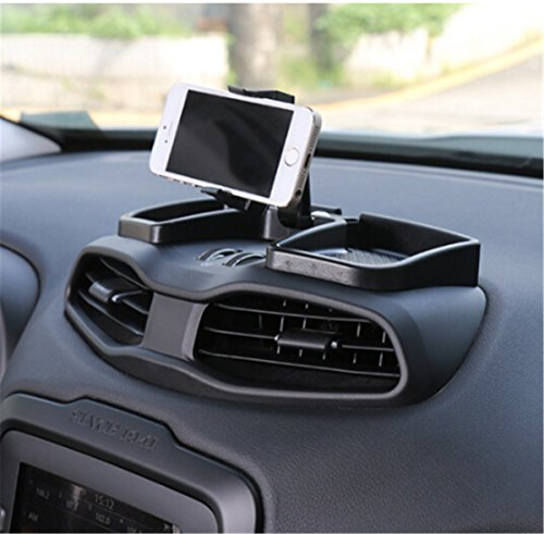 Car Inner Phone holder 360 Degree Rotate With ABS Storage Box GPS Holder Auto Mobile Stand Kit For Jeep Renegade 2015-2016